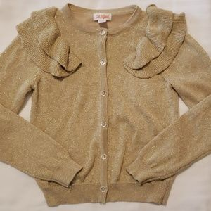 Cat & Jack Gold Shimmery Sweater